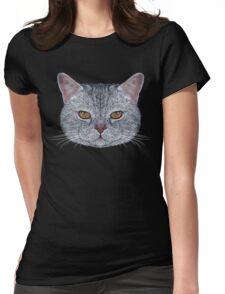 Scottish Straight Cat Womens Fitted T-Shirt