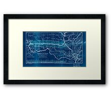0276 Railroad Maps Map of the Hannibal St Joseph Railroad and its connections published by the American Railway Review New Inverted Framed Print