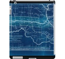 0276 Railroad Maps Map of the Hannibal St Joseph Railroad and its connections published by the American Railway Review New Inverted iPad Case/Skin