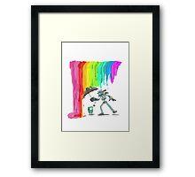 Robo Rainbow Respite Framed Print