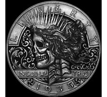 Peace Of the Death - Hobo Nickel Photographic Print