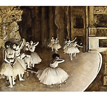 Edgar Degas - Ballet Rehearsal on Stage (1874)  Photographic Print