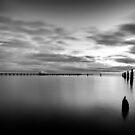 Sandgate Pier in Monochrome by Silken Photography