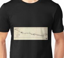 0279 Railroad Maps Hillsborough Cincinnati Rail-road map extending from Hillsborough Highland Co to the coal field at Jackson Jackson Co Ohio as located in 1852 under the Unisex T-Shirt