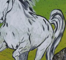 Horse Cup In An Oak Sticker