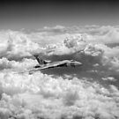 Avro Vulcan above towering clouds by Gary Eason