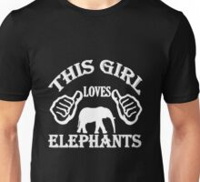This Girl Loves Elephants Unisex T-Shirt