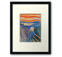 Edvard Munch - The Scream Pastel Framed Print