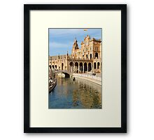 Seville - A view of Plaza de Espana Framed Print