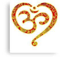 OM Heart, Mantra, Symbol Love & Spirituality, Yoga Canvas Print