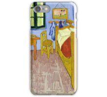 1889-Vincent van Gogh-Van Gogh's Bedroom in Arles-57x74 iPhone Case/Skin