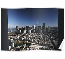 San Francisco by Coit Tower Poster