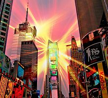 Spotlight on Times Square by Barbny
