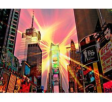 Spotlight on Times Square Photographic Print
