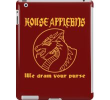 """We drain your purse"" being the words of House Applebits iPad Case/Skin"