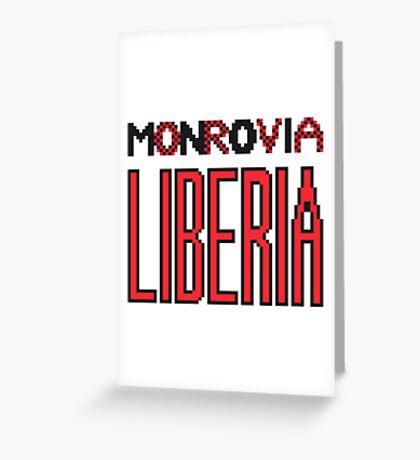 Monrovia, Liberia Greeting Card