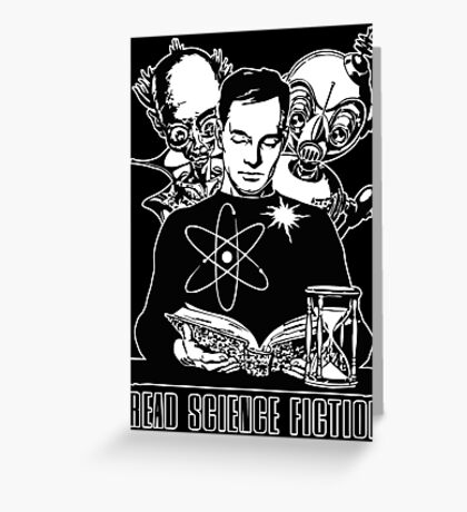 Read Science Fiction Greeting Card