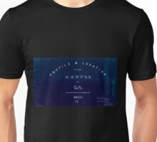 0192 Railroad Maps Profile location of the A W Pt R R of Ga surveyed drawn by Cha's Mahon C E Inverted Unisex T-Shirt