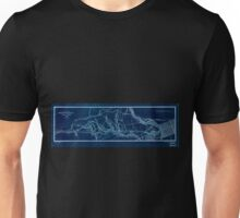 0420 Railroad Maps Plan of the West-Philadelphia Inverted Unisex T-Shirt