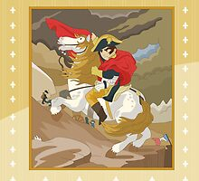 Napoleon Crossing the Alps by  Jacques-Louis David  by alapapaju