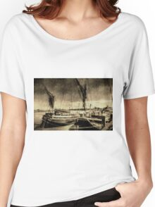 Thames sailing barges vintage Women's Relaxed Fit T-Shirt