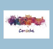 Cordoba skyline in watercolor Kids Tee