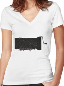 No anchor Women's Fitted V-Neck T-Shirt