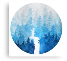 //Blue Forest// Canvas Print