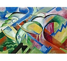 Franz Marc - The Sheep 1913 - 1914  Photographic Print