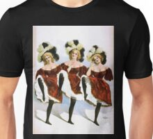 Performing Arts Posters Three dancing women in red costumes and feathers 0325 Unisex T-Shirt