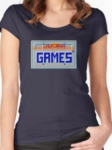 CALIFORNIA GAMES - SEGA MASTER SYSTEM Women's Fitted Scoop T-Shirt