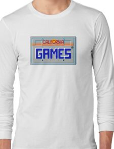 CALIFORNIA GAMES - SEGA MASTER SYSTEM Long Sleeve T-Shirt