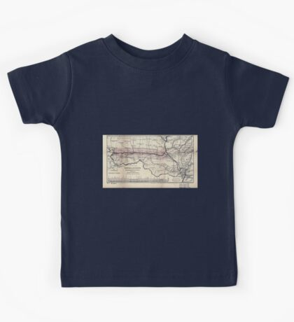 0276 Railroad Maps Map of the Hannibal St Joseph Railroad and its connections published by the American Railway Review New Kids Tee