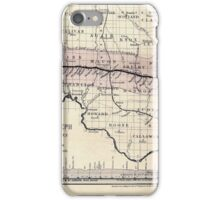 0276 Railroad Maps Map of the Hannibal St Joseph Railroad and its connections published by the American Railway Review New iPhone Case/Skin