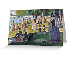 Georges Seurat -  A Sunday on La Grande Jatte -  1884 (1884 - 1886)  Greeting Card