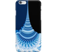 blue spiraling patterns iPhone Case/Skin