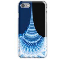 blue spiraling patterns iPhone Case/Skin