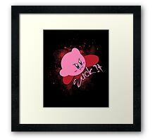 Kirby - Suck it Framed Print