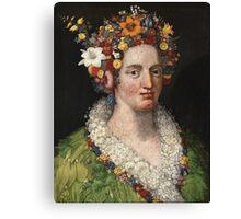 Giuseppe Arcimboldo - Flora 1589 Canvas Print
