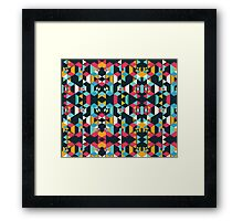 Polygonal Love Story #redbubble #decor Framed Print