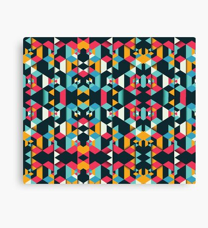 Polygonal Love Story #redbubble #decor Canvas Print