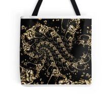 golden water drops Tote Bag