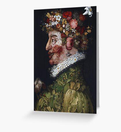 Giuseppe Arcimboldo - Spring - La Primavera 1563 Greeting Card