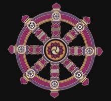 Dharma Wheel of Fortune, Buddhism,  One Piece - Short Sleeve