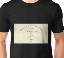 0192 Railroad Maps Profile location of the A W Pt R R of Ga surveyed drawn by Cha's Mahon C E Unisex T-Shirt