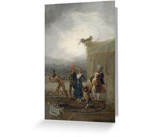 Goya - Comicos Ambulantes Greeting Card