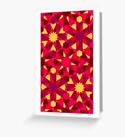 Spanish Director - Al-Nasir Pattern Red with Red lines Greeting Card