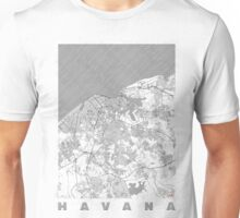 Havana Map Line Unisex T-Shirt