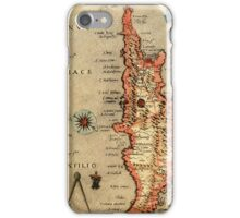 Map Of Cyprus 1713 iPhone Case/Skin