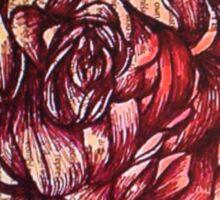 Vintage Rose Shabby Chic Collage Sticker